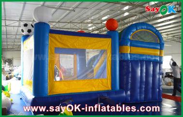 China Slider 4x3m inflável pequeno do castelo do salto do PVC com futebol Decoratiionn fornecedor