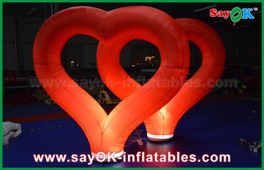 China Coração inflável de nylon vermelho das decorações infláveis exteriores do casamento com luz do diodo emissor de luz fornecedor