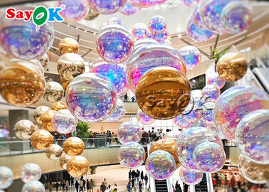 Gold And Silver 2.5m Waterproof Inflatable Mirror Ball For Party