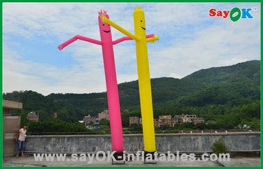 China Decorações do feriado do homem inflável vermelho/amarelo homem comercial do ar da dança do tubo fornecedor