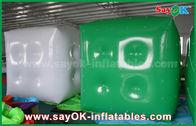 China Anunciando o balão inflável verde branco/o balão hélio do cubo com logotipo imprima fábrica