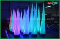 de boa qualidade Barraca inflável do ar & Cone inflável da decoração colorida da fase de iluminação para o clube/promoção à venda
