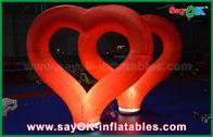 de boa qualidade Barraca inflável do ar & Coração inflável de nylon vermelho das decorações infláveis exteriores do casamento com luz do diodo emissor de luz à venda