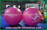 China Balão inflável inflável vermelho do hélio da propaganda exterior do balão do PVC do diâmetro do gigante 2m fábrica