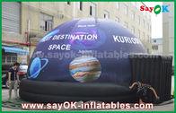 China Barraca inflável da abóbada do planetário móvel completo impermeável da cópia com estrela fábrica