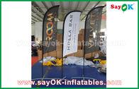 China Barraca de dobramento da bandeira inflável portátil da faca de ar para a promoção/propaganda fábrica