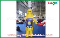 China Personagens de banda desenhada infláveis portáteis amarelos/azuis feitos sob encomenda para a propaganda comercial fábrica