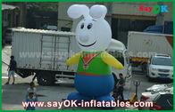 China personagens de banda desenhada infláveis do coelho bonito de pano de 210D Oxford para a promoção fábrica