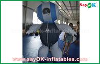 China Produtos infláveis feitos sob encomenda do robô de pano do costume 2mH Oxford azuis para anunciar fábrica