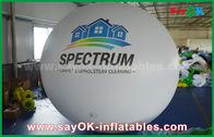 China Balão inflável branco do hélio do PVC do diâmetro do gigante 2m para a propaganda exterior fábrica