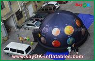 China 6m abóbada inflável portátil do planetário de pano de 210 D Oxford para o cinema com impressão completa fábrica