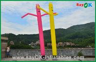 de boa qualidade Barraca inflável do ar & Decorações do feriado do homem inflável vermelho/amarelo homem comercial do ar da dança do tubo à venda