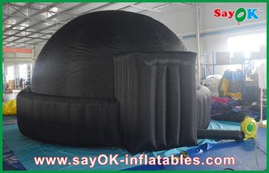 Planetário inflável preto gigante do móbil 5m para escolas/barraca abóbada do ar