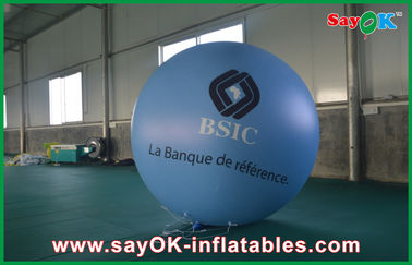 China balão inflável 1.5m azul da propaganda do PVC Outerdoor de 0.18mm com a cópia do logotipo para o evento fábrica