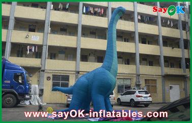 dragão impermeável dos personagens de banda desenhada da explosão do PVC do grande dinossauro 10m inflável azul