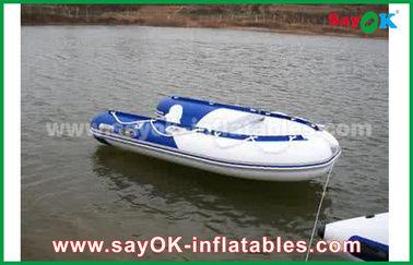 Calor azul/branco - os barcos infláveis selados do PVC molham a competência rígida Waterproof