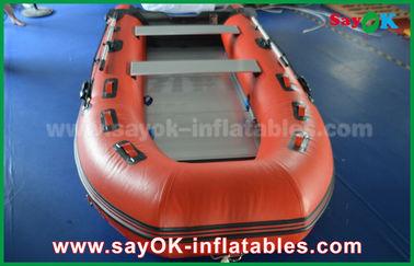Barcos infláveis do PVC de encerado durável com assoalho e as pás de alumínio