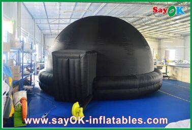 Planetário inflável preto, cinema inflável durável do móbil da barraca da projeção