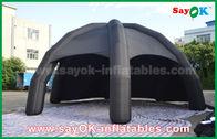 Barraca inflável preta do ar do PVC/barraca da aranha abóbada da propaganda com ventilador