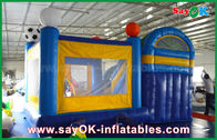 Slider 4x3m inflável pequeno do castelo do salto do PVC com futebol Decoratiionn